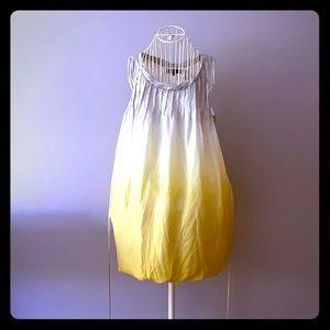 Balloon 100% Silk designer dress ombré